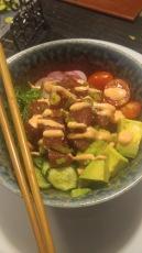 poke rice bowl